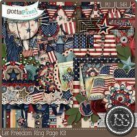 Let Freedom Ring Digital Scrapbooking Kit $4.99