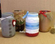 Set of 4 Wizard of Oz Inspired Mason Jar CenterpiecesDorothy Mason Jar Crafts, Mason Jars, Bottle Crafts, Wizard Of Oz Decor, Diy Hanging Shelves, Camping Parties, Ball Jars, Party Centerpieces, Classroom Themes