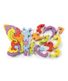 Another great find on #zulily! Butterfly A to Z 26-Piece Puzzle #zulilyfinds