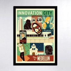 Medellin Innovation City Print by Consider Graphic Design Studio, via Behance