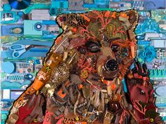 "Jason Mecier Original ""Wild Life"" Bear Artwork presented by GLAD Black Bag  Proceeds benefit Keep America Beautiful"