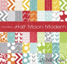 Moda - HALF MOON MODERN - Layer Cake - 10 inch Quilting Fabric Squares