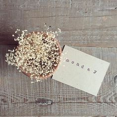 Fotografía hecha a primera hora de la mañana... Bye, bye monday!  #ltfathome #ltfloves #stamp #kraft #vintagestyle #vintage #wood #driedflowers #monday