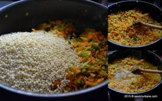 Mod de preparare cuscus cu legume Savori Urbane (2) Fried Rice, Fries, Ethnic Recipes, Food, Fine Dining, Essen, Meals, Nasi Goreng, Yemek