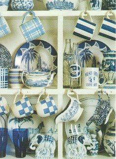 Liven up Kitchen Decor with Cobalt Blue Accents