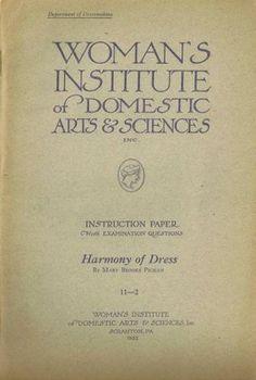 1920s Mary Brooks Picken Woman's Institute Book 11 2 Harmony of Dress 1922 Ed | eBay