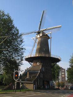 """Delft - Mill """"de Roos"""" in the city centre"""