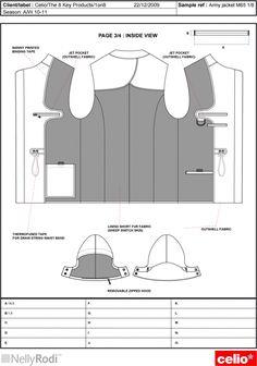 Risultati immagini per technical drawing parka