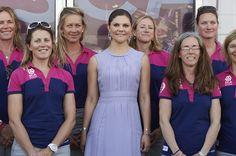 Crown Princess Victoria met with members of Sweden's Team SCA at the Volvo Ocean Race Village in Lisbon, Portugal, 04 June 2015.