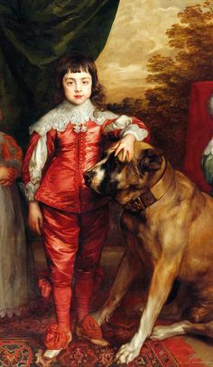 Anthony Van Dyck (1599-1641) The Five Eldest Children of Charles I 1637. Oil on canvas. 163,2 x 198,8 cm. The Royal Collection, London.