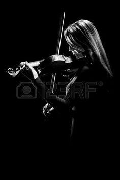 Violist violist klassiek concert musicus viool Stockfoto