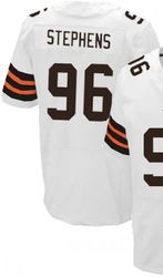 """$78.00--Emmanuel Stephens White Elite Jersey - Nike Stitched Cleveland Browns #76 Jeresey,Free Shipping! Buy it now:click on the picture, than click on """"visit aliexpress.com"""" In the new page."""