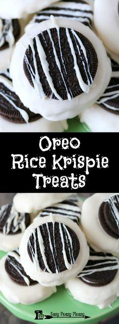 Easy 5 Ingredient Oreo Rice Krispie Treats.