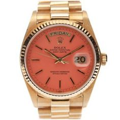 HOLLLAAAAA! Rolex with coral face? Yes please.