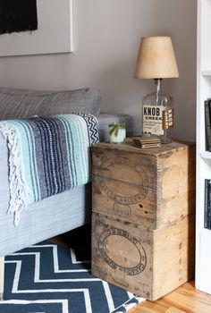 Savannah & Mike's Colorful, Slightly Edgy Montreal Rental Vintage Industrial Furniture, Reclaimed Furniture, Pipe Furniture, Furniture Design, Industrial Style, Apartment Living, Apartment Therapy, Apartment Design, Apartment Ideas