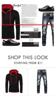 """Bohemian"" by difen ❤ liked on Polyvore featuring Balmain, men's fashion and menswear"