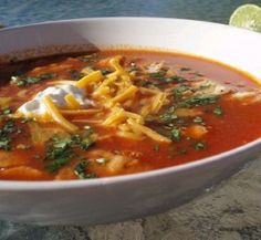 Chipotle Grill Tortilla Soup