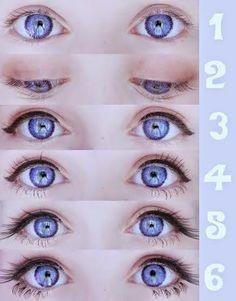 Znalezione obrazy dla zapytania lolita makeup eyes