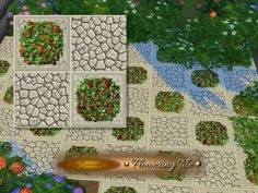 Flowering Tile http://www.thesimsresource.com/downloads/details/category/sims4-floors/title/flowering-tile/id/1288535/