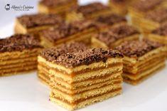Romanian Desserts, Romanian Food, Romanian Recipes, Cake Recipes, Dessert Recipes, Layered Desserts, Dessert Bars, Baked Goods, Cheesecakes