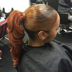 Black Hairstyles With Ponytail And Bangs, Top Style! - These are hairstyle ponytail to get in We cover all types of fade haircuts, crop haircuts, Weave Ponytail Hairstyles, Easy Hairstyles For Medium Hair, Ponytail Styles, Sleek Ponytail, My Hairstyle, Black Hairstyles, Ponytails For Black Hair, Long Ponytail Weave, Choppy Hairstyles