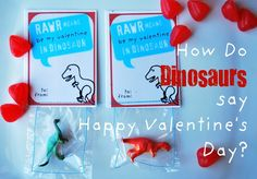 Dinosaurs are a big deal out our house.with three boys I know you are shocked! So this year I decided to make dinosaurs a part of Valenti. Dinosaur Valentines, Valentines For Boys, Valentines Day Hearts, Valentine Day Crafts, Valentine Decorations, Valentine Ideas, Valentine Party, Happy Hearts Day, Holiday Fun