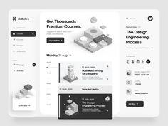 Skillalley – Dashboard UI by Tran Mau Tri Tam ✪ for UI8 on Dribbble Web Dashboard, Ui Web, Dashboard Design, Wireframe Design, App Design, Branding Design, Ui Design Inspiration, Instructional Design, Graphic Design Tips