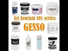 Art Journaling 101 Series - Gesso - Clips-n-Cuts