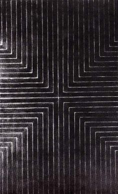 Frank Stella ~ Die Fahne Hoch!, 1959 (enamel paint on canvas)
