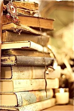 Give me winter, a fireplace, tea and a stack of books and I'll wish for winter to never end....