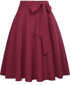 Jupe Swing, Swing Skirt, Midi Flare Skirt, Pleated Midi Skirt, Flared Skirt, Bow Skirt, African Fashion Skirts, African Dress, Marry Poppins Kostüm