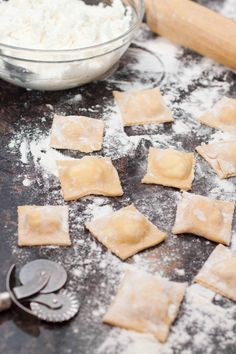 Fresh Ricotta Ravioli From Scratch - Served From Scratch Cheese Ravioli Recipe, Ricotta Ravioli, Ravioli Lasagna, Homemade Cheese, Homemade Pasta, Homemade Ravioli Recipe, Pierogies Homemade, Homemade Breads, Sandwiches
