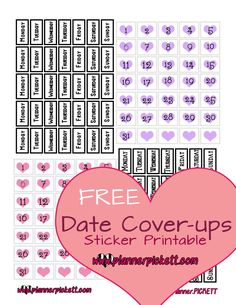 /planner/.PICKETT: Free Date Cover Printable Planner Stickers