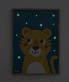 Tiger Poster: im Dunkeln leuchtendes Plakat für's Kinderzimmer, Kinderzimmerdeko / tiger poster: shining in the dark picture as your children's room decor made by julicadesign via DaWanda.com