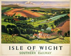 Adrian Allinson - Isle of Wight, Southern Railway (Poster)