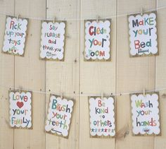 Good Manners Wall Cards