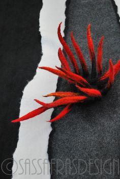 """Fire"" Fiber art by Claudia Burkhardt"