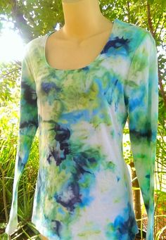 I see the sky and greenery! Ice Dyeing, Greenery, Tie Dye, Sky, Group, Crafts, Tops, Women, Fashion