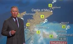 Prince Charles doing the weather forecast