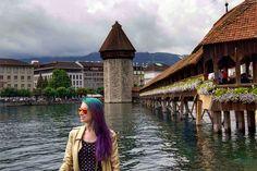 Lucerna: uma das cidades mais visitadas da Suíça, paisagens lindas, arquitura medieval e história! Veja dicas de Roteiro em Lucerna de 2 dias!
