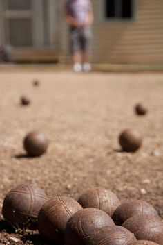 Petanque-my favorite French game. Played this with my host family in France