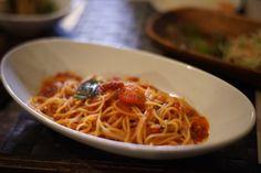 そしてトマトソースのパスタをいただきます! at honohono cafe