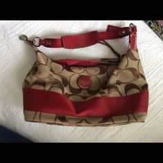 Authentic Coach Hobo Bag Carried once; no stains, picks, or other flaws; zip close, two open pockets inside, and one inside zip pocket, price negotiable Coach Bags Hobos