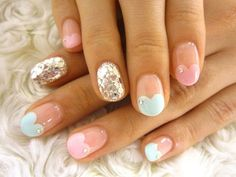 Heart French #nails