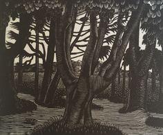 Eric Ravilious. 1925. Woodland outside Florence.