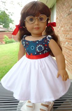 18 Doll Clothes 1950s Style Summer Dress Fits by Designed4Dolls, $24.95
