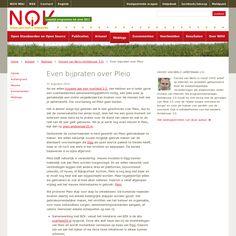 Even bijpraten over Pleio Columns, Journal, Blog, Seeds, Journals