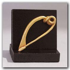 Greek Gold Fibula Brooch, c. 300 B.C. - at Artemission.com