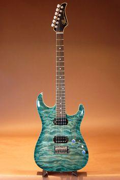 Pensa Custom Guitars[ペンサ カスタム ギターズ] MK-1 HH Style / Aqua Blue Burst 2015|詳細写真