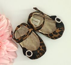 CLEO Brown and Black Leopard Print Baby Girl Shoes by JolieBerry, $29.95